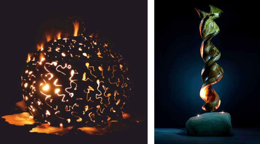 Holzkunst und Feuertonnen